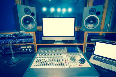 audio equipment: music studio