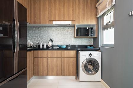 kitchen interior: Luxury Interior kitchen Stock Photo