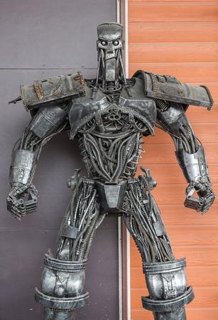 robot hand: Steel robot hand made