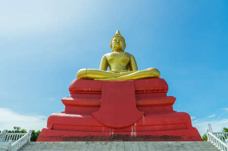 bot: Big Buddha of Phra Phuttha Sothon at Wat Bot Temple in Pathumthani, Thailand