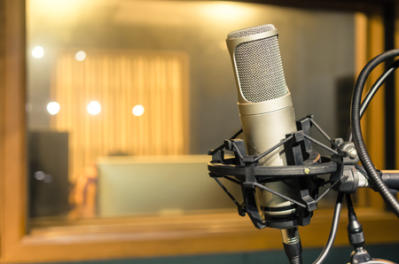 microphone: Professional condenser studio microphone, Musical Concept
