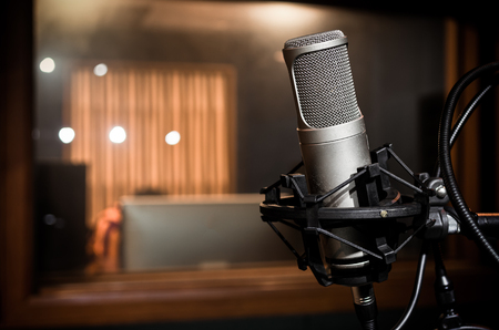black professional: Professional condenser studio microphone, Musical Concept