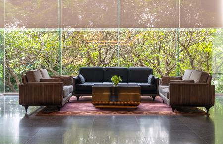 Lobby area of a hotel, office. Interior design concept