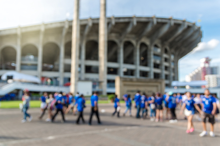 worldcup: Abstract blurred photo of fan sport at stadium, sport background concept