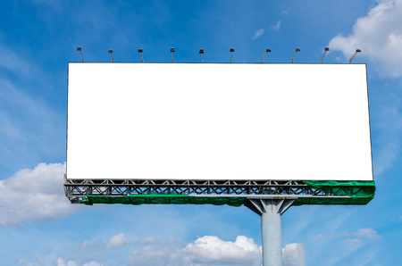 Blank billboard on beautiful sky for advertisement Imagens