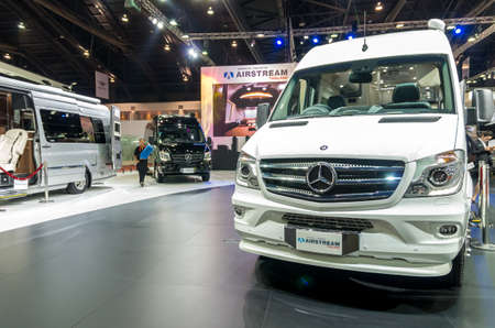 airstream: BANGKOK - APRIL 3 : 2015 Benz Airstream thailand on the stage show in The 36 th Bangkok International Motorshow , on April. 3, 2015 in Bangkok, Thailand