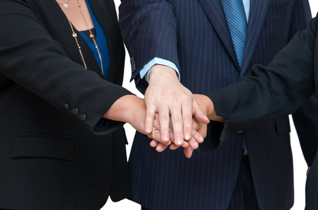 joined hands: Business people joined hands together, Teamwork concept