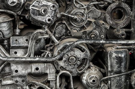 spare part: old machine steel,vintage spare part, industry concept Stock Photo