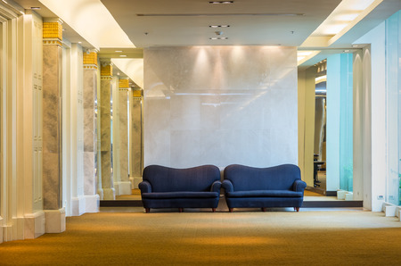 accommodation space: Lobby area of a hotel, office. Interior design concept