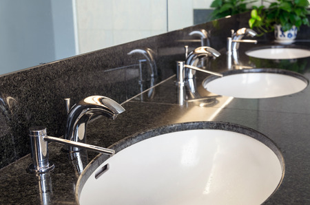 wash basin: Luxury faucet with wash basin, Interior toilet