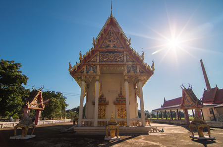 public domain: wat rong wua with the sun, Buddhist temple, public domain in chainat province, thailand, public domain