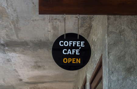 shop sign: Outdoor Coffee shop sign