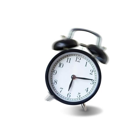 ビンテージの目覚まし時計が鳴っていると、朝は、振動は概念によって覚ます
