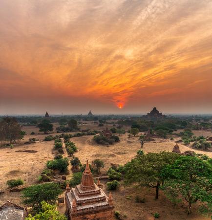 sunrises: Landscape of BAGAN at Sunrises time, mandalay, Myanmar