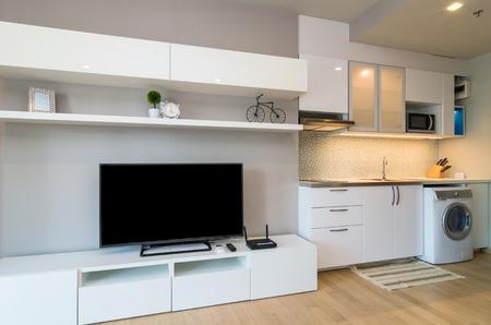 luxury living room: Luxury Interior living room and kitchen