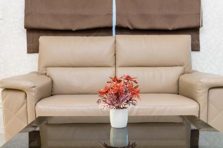 luxury room: Sofa set in Luxury Interior living room Stock Photo