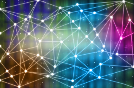 Technology connection background, Abstract photo of block chain network background concept, Distributed ledger technology Foto de archivo