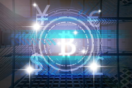 building a chain: the financial technology or FinTech over the innovation technology virtual screen background with modern building background,business Fin tech network concept