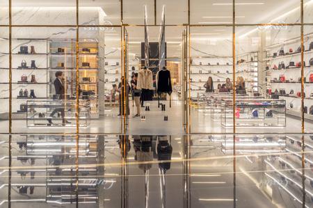 BANGKOK, THAILAND - NOVEMBER 2018 : The New Saint Laurent Store in IconSiam department store on November 14, 2018 at bangkok, Thailand. Iconsiam already open November 9, 2018 Редакционное