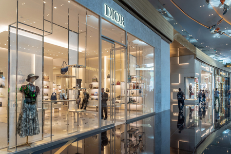 BANGKOK, THAILAND - NOVEMBER 2018 : Dior Shop in IconSiam department store which have many shopping store on November 14, 2018 at bangkok, Thailand. Iconsiam already open November 9, 2018