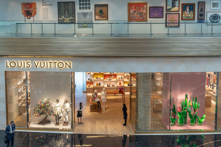 BANGKOK, THAILAND - NOVEMBER 2018 : Louis Vuitton Stores all over the World in IconSiam department store on November 14, 2018 at bangkok, Thailand. Iconsiam already open November 9, 2018 Editorial