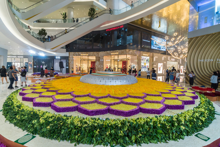 BANGKOK, THAILAND - NOVEMBER 2018 : IconSiam department store which have many shopping store on November 14, 2018 at bangkok, Thailand. Iconsiam already open November 9, 2018
