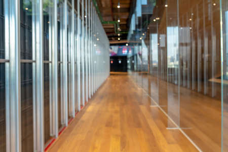 Abstract Photo blurred of modern working space or meeting room or data center room, Banco de Imagens