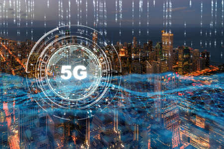 5G connection technology over the buildings