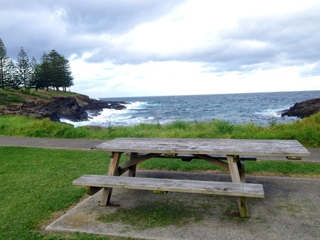 Bench with seaview