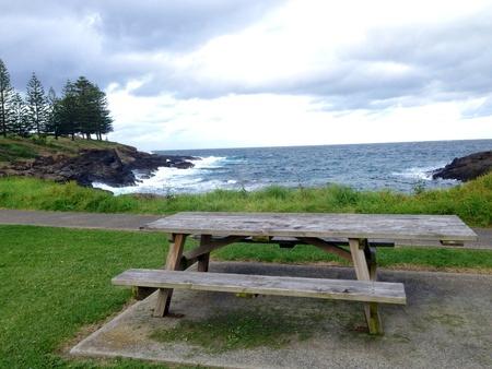 kiama: Bench with seaview