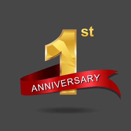 1 year anniversary celebration logotype.
