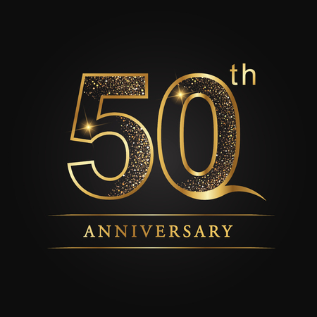 50 years anniversary celebration logotype. 50th anniversary logo