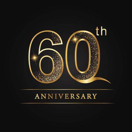 60 years anniversary celebration logotype. 60th anniversary logo