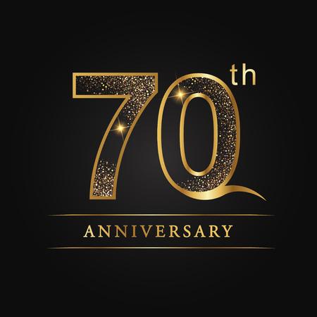 70 years anniversary celebration logotype. 70th anniversary logo