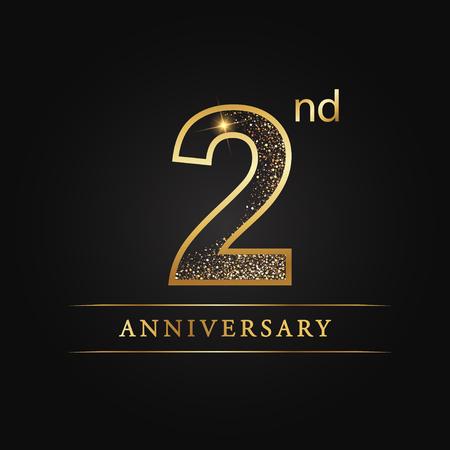 2 years anniversary celebration logotype 2nd anniversary logo