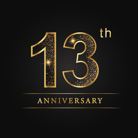 13 Years Anniversary Celebration Logotype 13th Anniversary Logo
