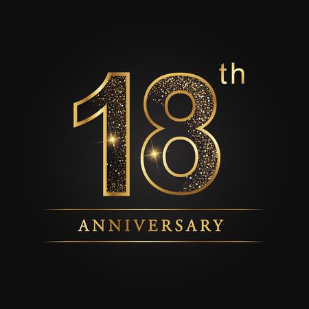 18 years anniversary celebration logotype. 18th anniversary logo