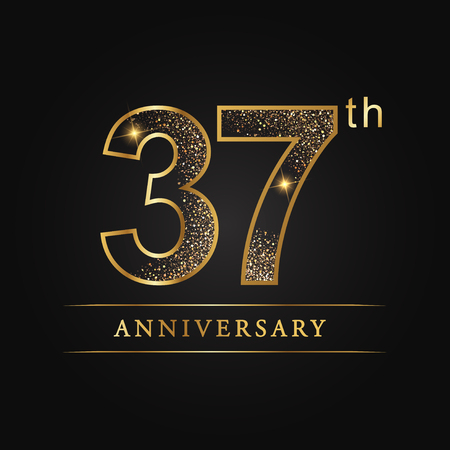 37th years anniversary celebration logo type.