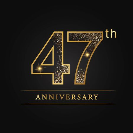 47th years anniversary celebration logo type. Banque d'images - 98973009