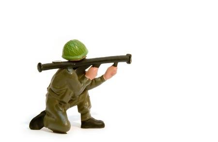rifleman: Soldado de juguete  Foto de archivo