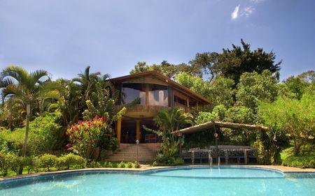 tropical hotel Standard-Bild