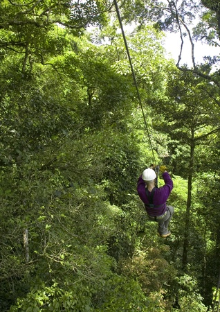 zip line in Costa Rica photo