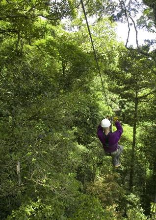 zip line in Costa Rica photo