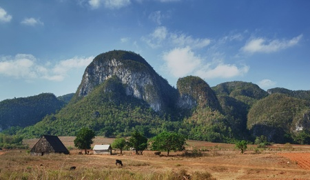view of the Vinales valley in Cuba