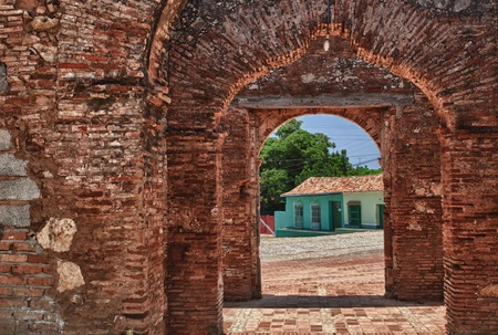 old building in Trinidad, Cuba photo