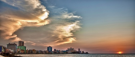 El Malecon Promenade, Havanna, Kuba Standard-Bild - 11582386
