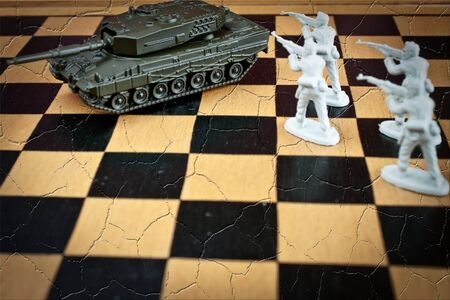war game concept on a chess board game