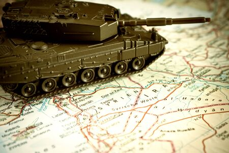 middle east crisis: war concept on middle east crisis  Stock Photo