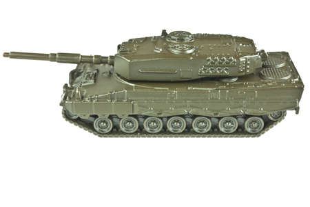 battle tank isolated on white Stock Photo