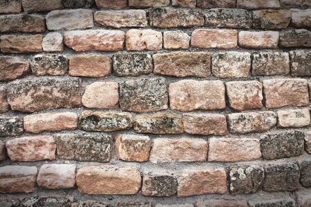 Old grunge brick wall full frame